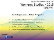 Psychological Abuse – Indian Perspective