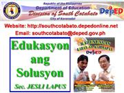 Education Updates South Cotabato