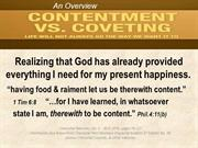 Contentment vs Covetousness overview