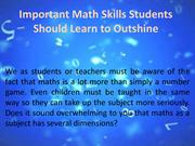 Important Math Skills Students Should Learn to Outshine