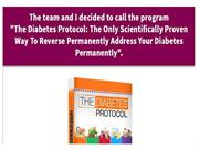 Diabetes Protocol - Complete Solution to Any Diabetic Problems