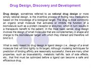 Drug Design, Discovery and Development (New)_New1