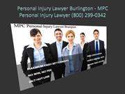 Personal Injury Lawyer Burlington - MPC Personal Injury Lawyer