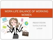 WORK-LIFE BALANCE OF WORKING WOMEN