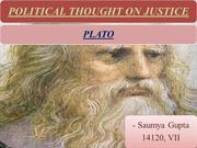 PLATO's thought on justice