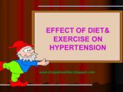 EFFECT OF DIET AND EXERCISE ON HYPERTENSION