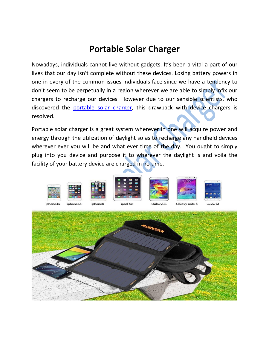 solar mobile charger ppt Download as ppt, pdf, txt or read solar based mobile charger manoharbhai patel institute of life of the battery will be high as we use solar mobile charger.