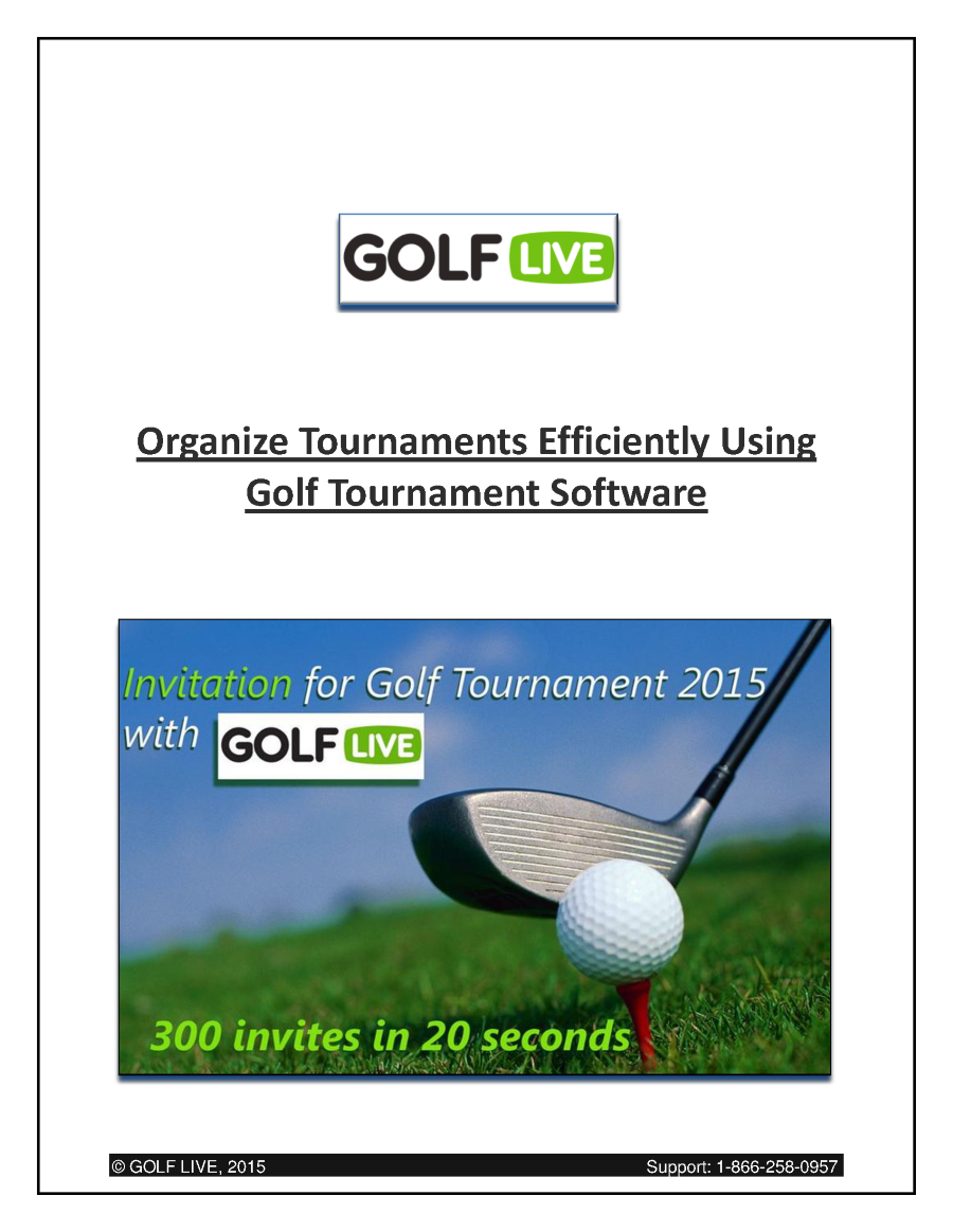 Organize tournaments efficiently using golf tournament for Golf tournament program template
