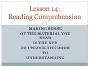 Lesson 14 Reading Comprehension Part 1