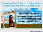 Canvas Stretching, Canvas Printing Services at Melbourne by CFO
