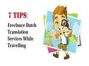 How To Freelance Dutch Translation Services On The Go