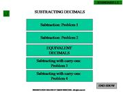 CAHSEE DECIMALS SUBTRACTION
