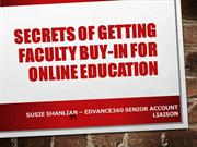 Secrets of Getting Faculty Buy-In for Online Education