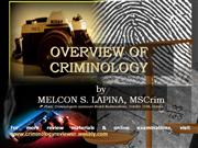 Overview of Criminology in the Philippines