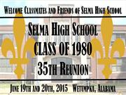 Selma High Class of 1980 Past on Classmates
