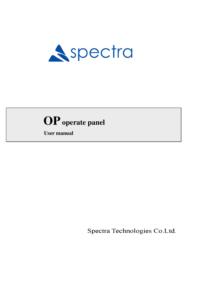 Op Manual Hardware Spectra Authorstream Twido Plc Wiring Diagram Related Presentations