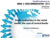 Public authorities in the social media: the case of central banks