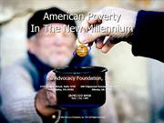 American Poverty In The New Millennium