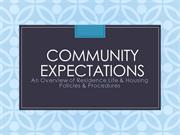 Community Expectations