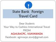 FOREIGH TRAVEL CARD_presentation dt 27-04-2015