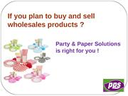 PPS, London Wholesale Party Supplies, Party Disposables, Party and Pap