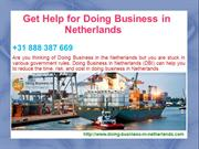 Get Help for Doing Business in Netherlands