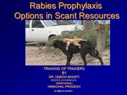 Rabies prophylaxis in scant resources HP May 2015