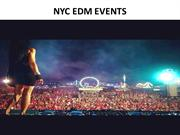 NYC EDM EVENTS