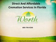 Direct And Affordable Cremation Services In Florida