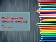effective teaching and critical thinking by Raheela Naveed