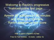 Raven's progressive matrices test online free powerpoint presentation