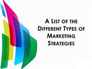 different types of marketing strategies pdf