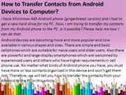 How to Transfer Contacts from Android Devices to Computer