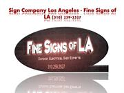 Sign Company Los Angeles - Fine Signs of