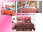 How to Wash Comforters