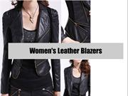 Women's Leather Blazers