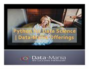 Python for Data Science - Data-Mania Offerings