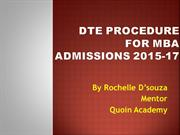 DTE Procedure_steps to follow for 2015
