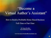 Become a Virtual Author's Assistant