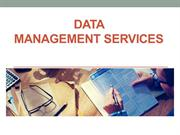 Data Management and Data Processing Services