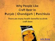 Why People Like Craft Beer In Punjab, Chandigarh, Panchkula