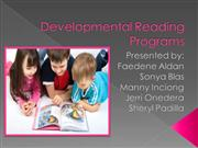 Developmental Reading Programs