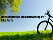 Three Important Tips in Choosing Pit Bike Parts