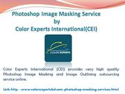Photoshop Image Masking Service by Color Experts International