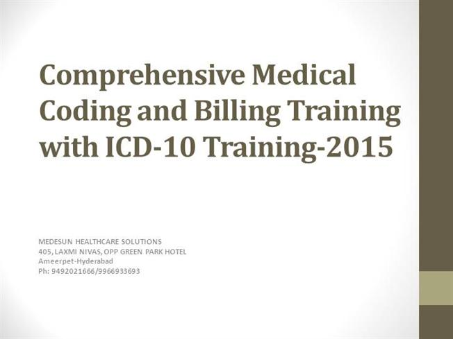 Medical Coding Training Hyderabad |authorSTREAM
