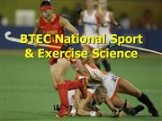 BTEC National Sport & Exercise Science