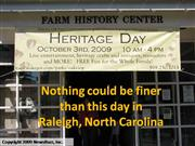 Heritage Day, Oakview Park, Raleigh, NC