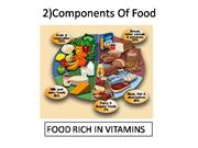 2 Components Of Food