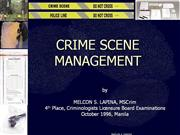 Crime Scene Management