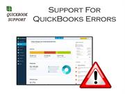 Support For QuickBooks Error